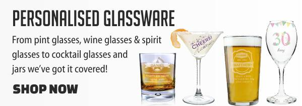 Personalised Glassware from Something Personal