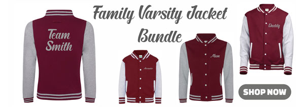 Personalised Family Varsity Jacket Bundle from Something